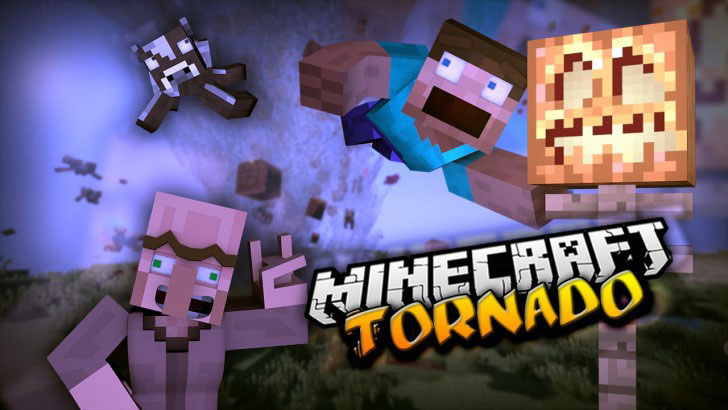 Localized Weather & Stormfronts для Minecraft 1.7.2 - мод на торнадо (смерч)