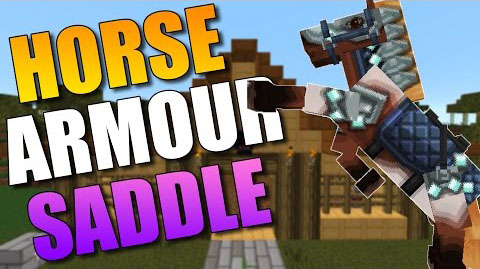 Craftable Horse Armour and Saddle для Minecraft 1.7.10 - мод на крафт брони и седла для лошадей