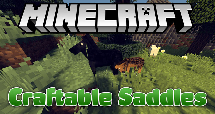 Craftable Saddles для Minecraft 1.10.2 - мод на крафт седла и брони для лошади